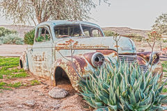 Rusty vintage car in Namibia Stock Photography