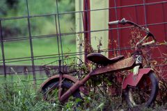 Rusty vintage childs bicycle Royalty Free Stock Images