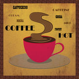 Rusty vintage coffee poster. Royalty Free Stock Photography