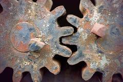 Rusty vintage cogwheels Stock Images