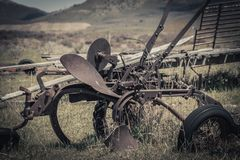 Rusty Vintage Horse Drawn Plow photo stock