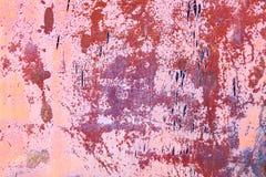 Rusty vintage orange pink metallic iron background stock image