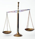 Rusty vintage scale. Rusty vintage brass scale which is  for product comparison Stock Image