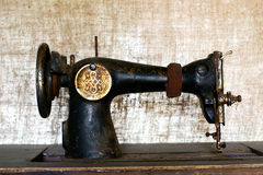Rusty vintage sewing machine Royalty Free Stock Image