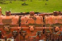 Rusty Vintage Tractor Engine fotografia stock libera da diritti