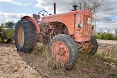 Rusty Vintage Tractor Stock Images