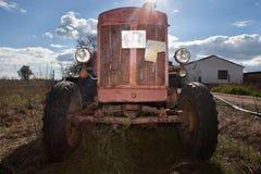 Rusty Vintage Tractor Stock Photos