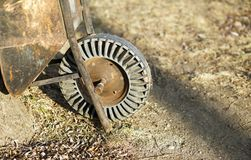 Rusty vintage wheelbarrow Royalty Free Stock Images