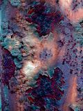Rusty Virus. A rust texture with pastel hues for artists and designers to use Royalty Free Stock Photos