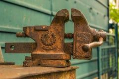 Rusty vise Stock Image