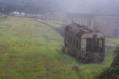 Rusty wagon in Paranapiacaba Royalty Free Stock Photo