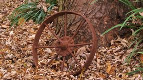 Rusty wagon wheel Stock Photography