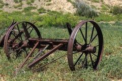 Rusty Wagon Wheel Axle Stock Images
