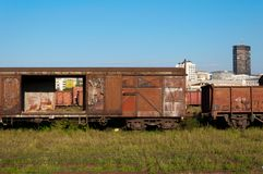 Rusty wagons Royalty Free Stock Photo
