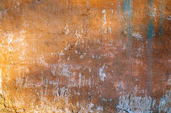 Rusty wall. Old plaster rusty wall texture Stock Photo