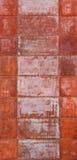 Rusty Wall. Wonderful rusty texture wall of panels Stock Photography