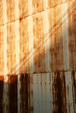 Rusty Wall. Rusty corrugated steel wall Stock Photo
