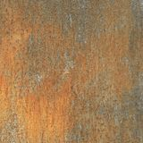 Rusty wall, old metal texture, copper corrosion Royalty Free Stock Photos