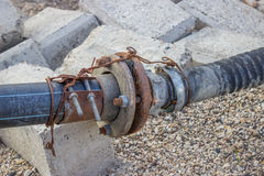 Rusty water pump pipe connection joint 3 Royalty Free Stock Image