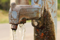 Rusty Water Pump Tap Royalty Free Stock Image