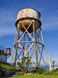 Rusty Water Tower. A rusty water tower on Alcatraz royalty free stock photos