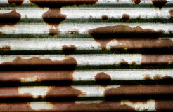 Rusty wave metal panel. Stock Images