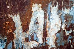 Rusty And Weathered Metal Plate 1 Royaltyfri Fotografi