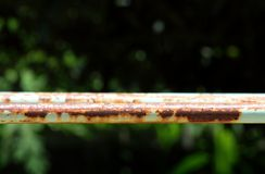 Rusty weathering steel Stock Photos