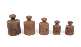 Rusty weights Royalty Free Stock Photos