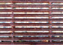 Rusty Welded Angle Profile Steel Arkivbild