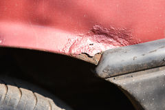 Rusty wheel and cracked paint of very old car Royalty Free Stock Photo