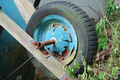 Rusty wheel and Tire Royalty Free Stock Photos