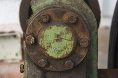 Rusty wheel Upside down. On a beach Stock Image