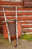 Rusty Wheelbarrow royalty free stock photos