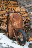 Rusty wheelbarrow Royalty Free Stock Images