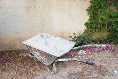 Rusty wheelbarrow. Royalty Free Stock Photos