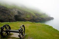 Rusty Wheels - Tintagel kust - England Royaltyfri Bild