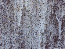 Rusty white colored steel background Stock Photo