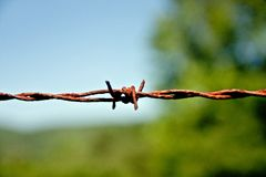Rusty Wire Stock Photography