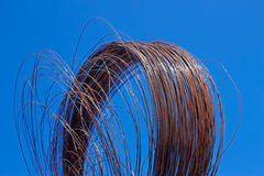 Rusty wire against blue sky Royalty Free Stock Photos