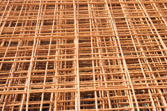 Rusty Wire background. Rusty construction wire with square pattern Royalty Free Stock Image