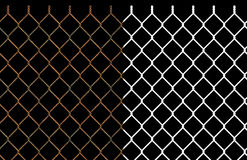 Rusty wire chain link fence. Seamless pattern with alpha channel. This tiles seamlessly as a pattern in horizontal direction Stock Images