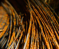 Rusty wire close-up macro texture Stock Photo