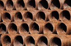 Rusty wire coils Stock Image