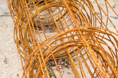 Rusty wire mesh steel for construction Royalty Free Stock Photo