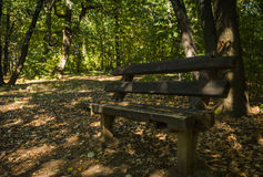 Rusty wooden bench royalty free stock photos