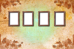 Rusty wooden frame on abstract background Stock Images