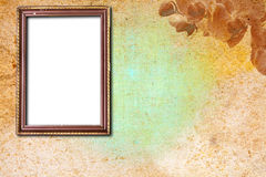 Rusty wooden frame on abstract background Royalty Free Stock Photography