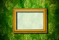 Rusty wooden frame on abstract background Royalty Free Stock Images