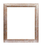 Rusty wooden picture frame. Studio shot of old picture frame Stock Photos